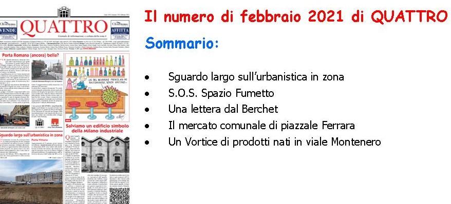 Il numero di febbraio 2021 di QUATTRO